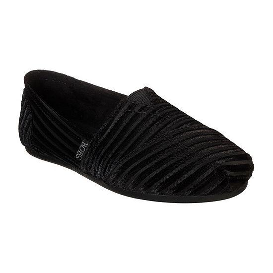 Skechers Bobs Plush Womens Walking Shoes Pull On