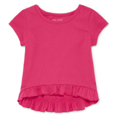 Okie Dokie Short Sleeve Ruffle Top - Baby Girl NB-24M