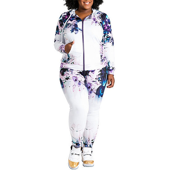 Poetice Justice Curvy Printed Active Track Pant - Plus