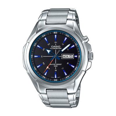 Casio Mens Silver Tone Bracelet Watch-Mtpe200d-1a2v