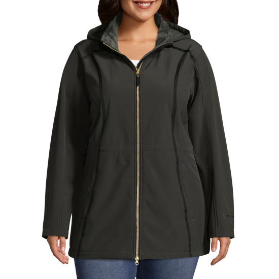 Free Country Hooded Water Resistant Lightweight Softshell Jacket-Plus