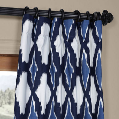 Exclusive Fabrics & Furnishing Sorong Cotton Twill Rod-Pocket/Back-Tab Curtain Panel
