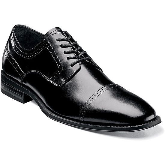 9d3559be668e Stacy Adams Waltham Mens Leather Cap Toe Lace Oxford Dress Shoes JCPenney