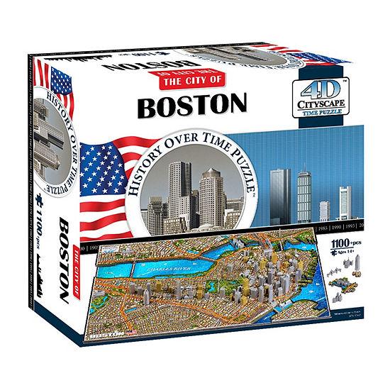 4d Cityscape Boston Usa