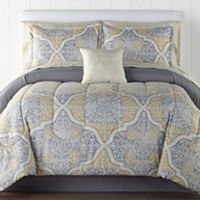 Deals on Home Expressions Bingham Complete Bedding Set with Sheets