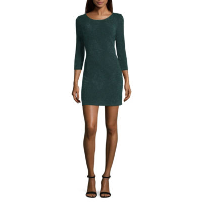 Trixxi Every Day Value 3/4 Sleeve A-Line Dress-Juniors