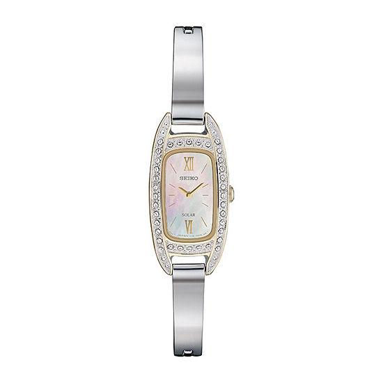 Seiko Womens Silver Tone Bracelet Watch-Sup388