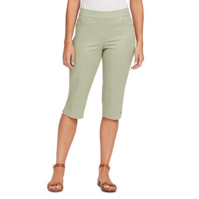 """Gloria Vanderbilt 10"""" Modern Fit Twill Bermuda Shorts-Petite"""