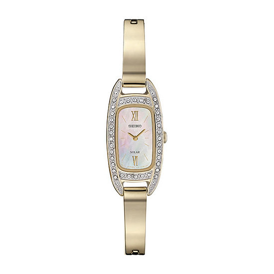 Seiko Womens Gold Tone Bracelet Watch-Sup390