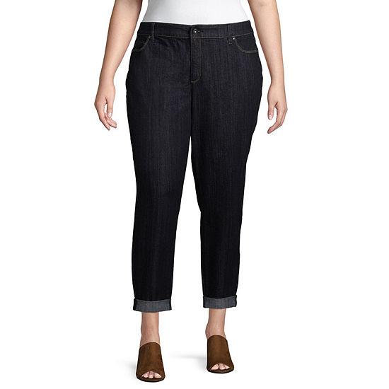 Liz Claiborne Boyfriend Jeans Womens Plus