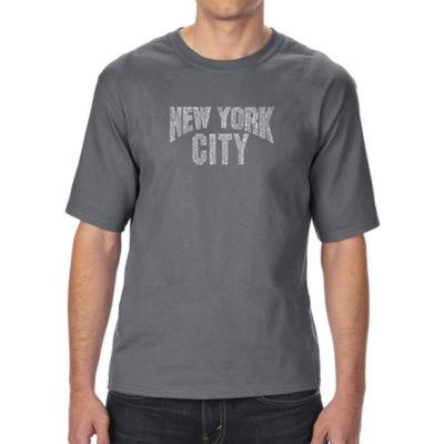 Los Angeles Pop Art Boy's Raglan Baseball Word Art T-shirt - GOD SAVE THE QUEEN