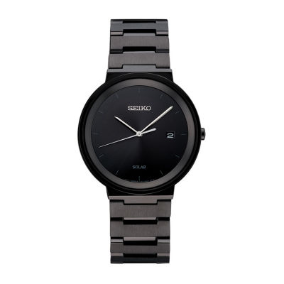 Seiko Mens Black Bracelet Watch-Sne481