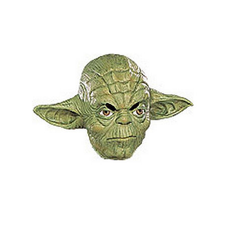 Star Wars Yoda 3/4 Vinyl Mask-ChildOne-Size, One Size , Multiple Colors