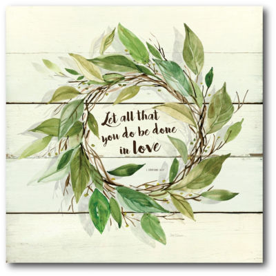 Let All That You Do Be Done In Love Canvas Art