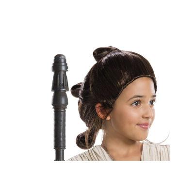 Star Wars Girls Rey Wig- ChildOne-Size