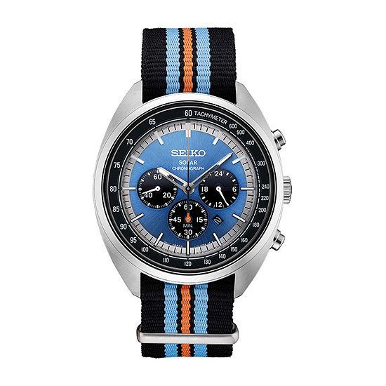 Seiko Mens Black Strap Watch-Ssc667