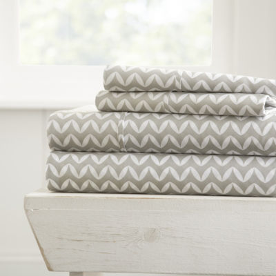 Casual Comfort™ Premium Ultra Soft Puffed Chevron Pattern Sheet Set