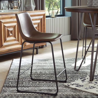 Signature Design by Ashley Collins 2-pc. Counter Height Upholstered Bar Stool