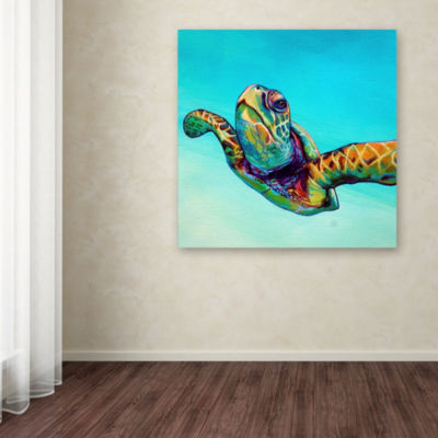 Trademark Fine Art Corina St. Martin Green Sea Turtle Giclee Canvas Art