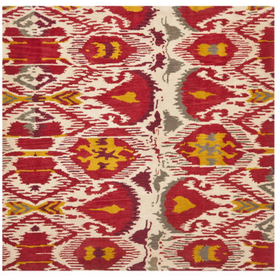 Safavieh Ikat Collection Jayme Abstract Square Area Rug