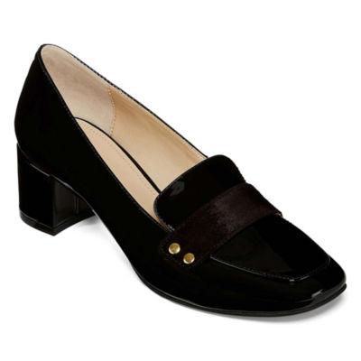 Liz Claiborne Womens Medina Pumps Slip-on Pointed Toe Block Heel
