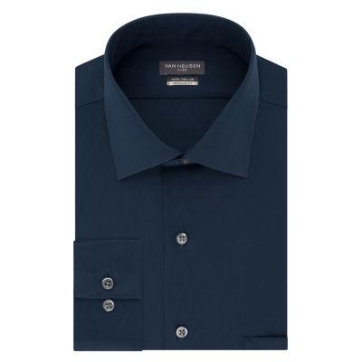 Van Heusen Vh Flex Cool Collar Long Sleeve Twill Dress Shirt