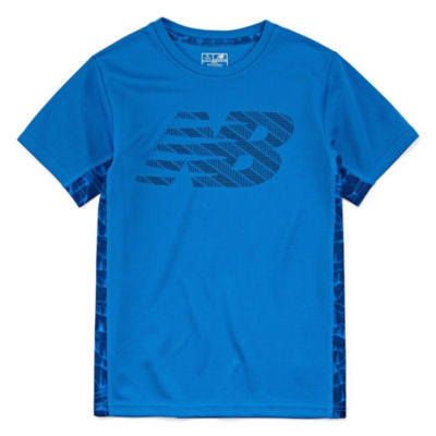 New Balance Short Sleeve Round Neck T-Shirt-Big Kid Boys