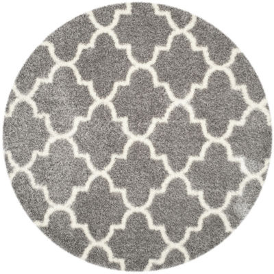 Safavieh Montreal Shag Collection Shelby GeometricRound Area Rug