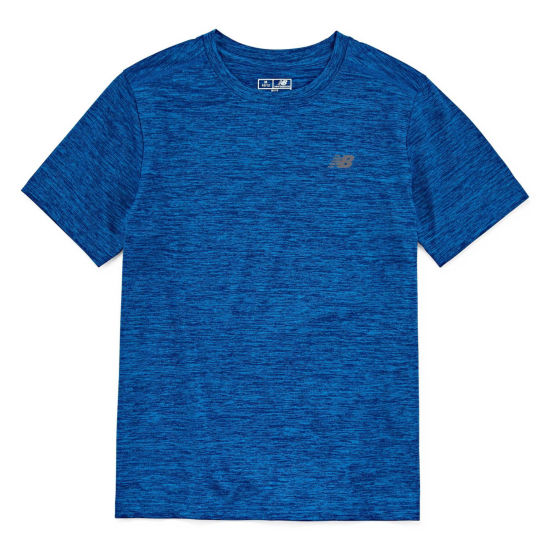 New Balance Short Sleeve Round Neck T-Shirt-Big Kid Boys