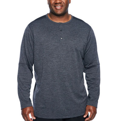 Msx By Michael Strahan Mens Henley Neck Long Sleeve Henley Shirt