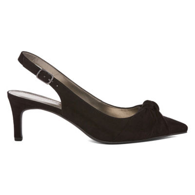 Worthington Womens Dean Pumps Closed Toe Kitten Heel