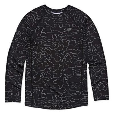 New Balance Long Sleeve T-Shirt-Big Kid Boys