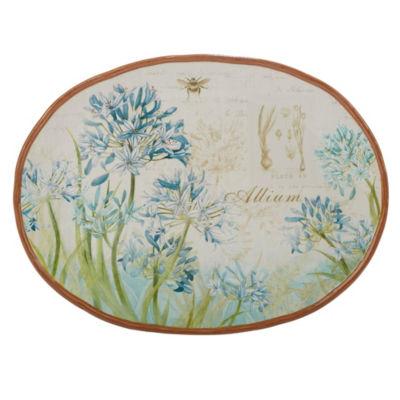 Certified International Herb Blossoms Serving Platter