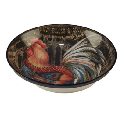 Certified International Gilded Rooster Serving Bowl