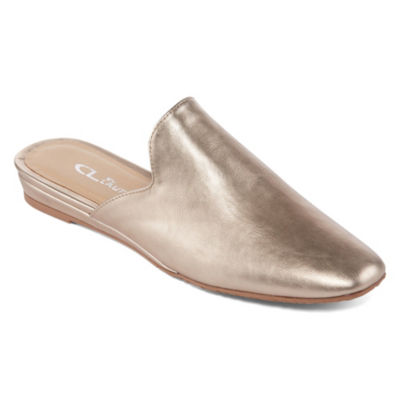 CL by Laundry Womens Groove Mules Slip-on Closed Toe