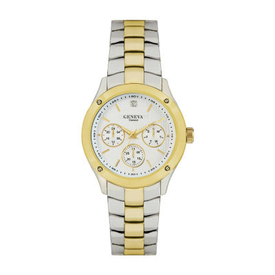 Geneva Mens Two Tone Bracelet Watch-Jry8088ttg