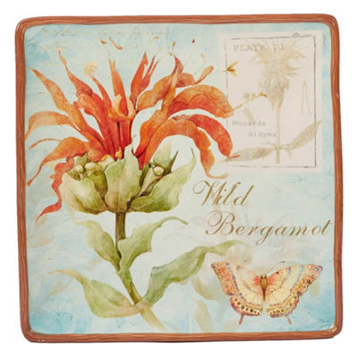 Certified International Herb Blossoms Serving Platter