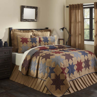 VHC Classic Country Primitive Bedding - Kindred Star Quilt