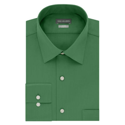 Van Heusen Lux Sateen Stretch Long Sleeve Sateen Dress Shirt - Fitted