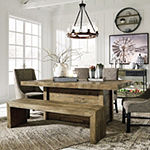 Signature Design by Ashley Tupelo Collection Rectangular Wood-Top Dining Table