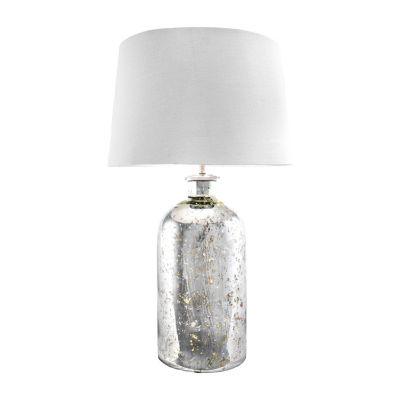 """Watch Hill 28"""" Isabella Mercury Glass Cotton Shade Table Lamp"""