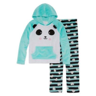 Arizona 2pc Panda Hoodie/Jogger Sleep Set- Big Girl & Plus