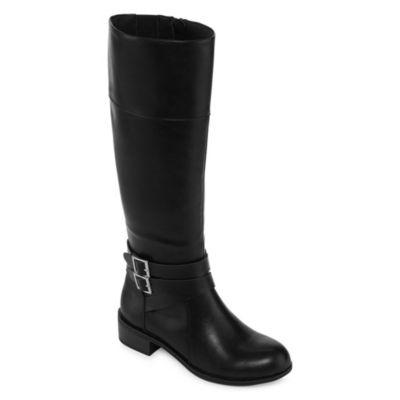 Arizona Womens Denmark Riding Block Heel Zip Boots