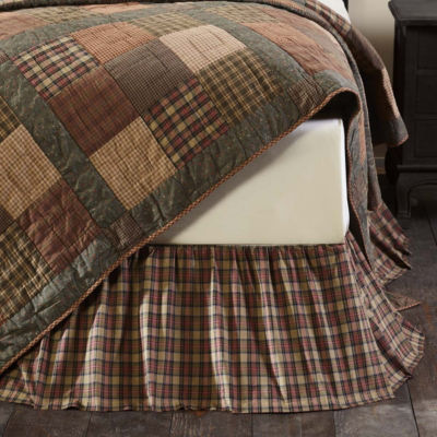 VHC Classic Country Primitive Bedding - CrosswoodsBed Skirt