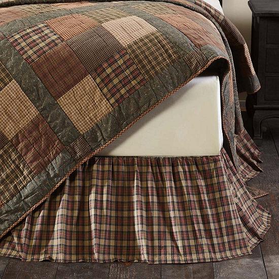 Ashton And Willow Cinnamon Plaid Bed Skirt
