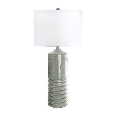 "Watch Hill 10"" Naomi Ceramic Linen Shade Table Lamp"