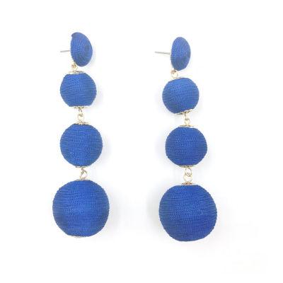 Bijoux Bar Round Drop Earrings
