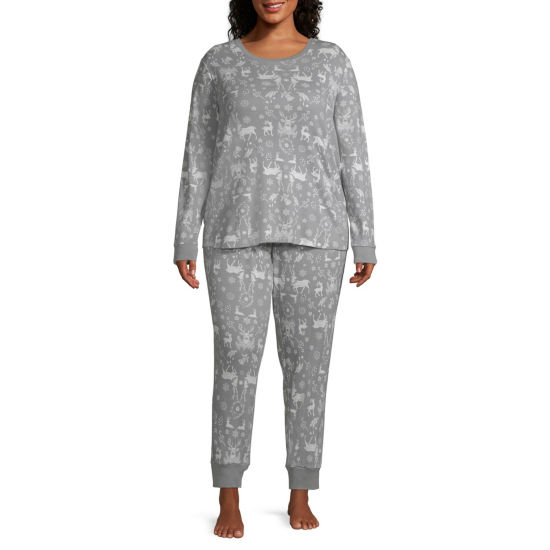 North Pole Trading Company Deers And More 2 Piece Pajama Set -Women's Plus
