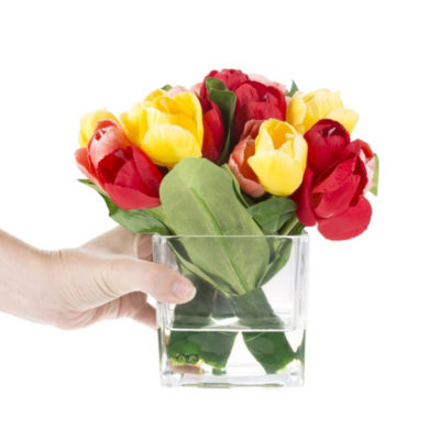 Pure Garden Tulip Artificial Floral Arrangement