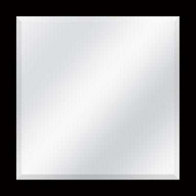 Modern Black Beveled Plate Square Mirror